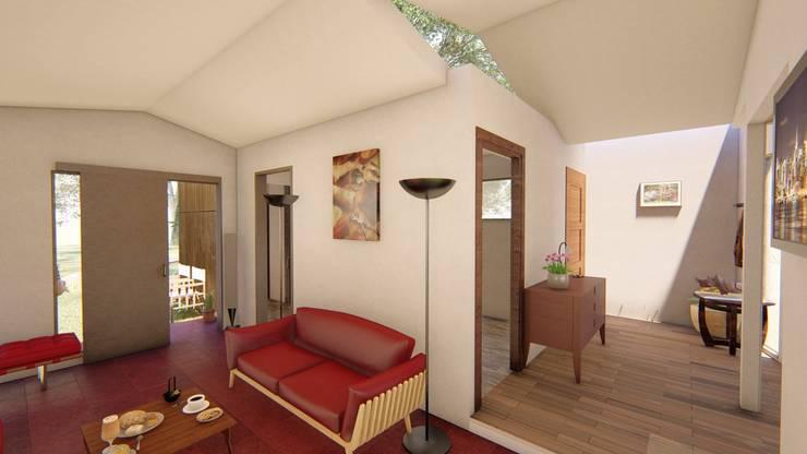 Living y Hall distribuidor: Livings de estilo  por BIM Urbano,