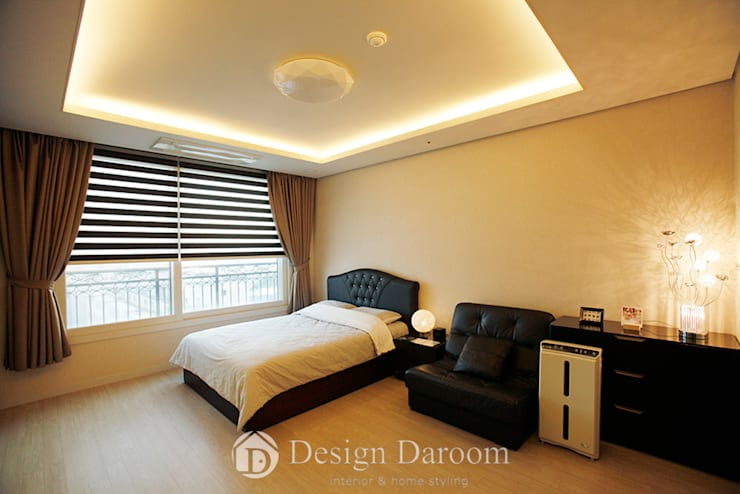 광장동 유진스웰 50py: Design Daroom 디자인다룸의  침실