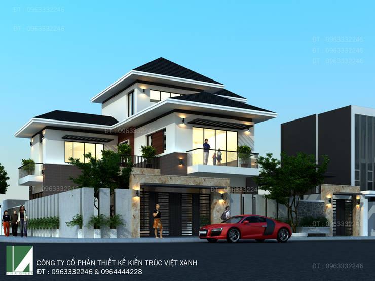 BIỆT THỰ 3 TẦNG HIỆN ĐẠI - ANH SINH:   by công ty cổ phần Thiết kế Kiến trúc Việt Xanh