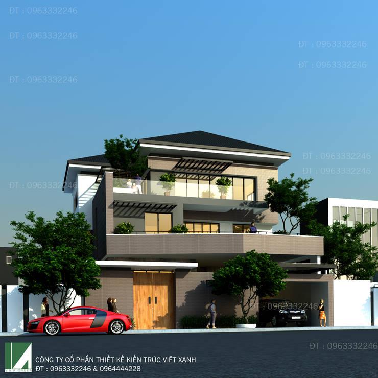 BIỆT THỰ HIỆN ĐẠI KHU ĐẤT CHÉO:   by công ty cổ phần Thiết kế Kiến trúc Việt Xanh