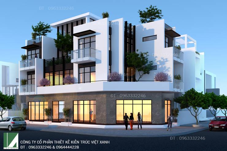 BIỆT THỰ XANH HIỆN ĐẠI 3 TẦNG . TP HÀ TĨNH:   by công ty cổ phần Thiết kế Kiến trúc Việt Xanh