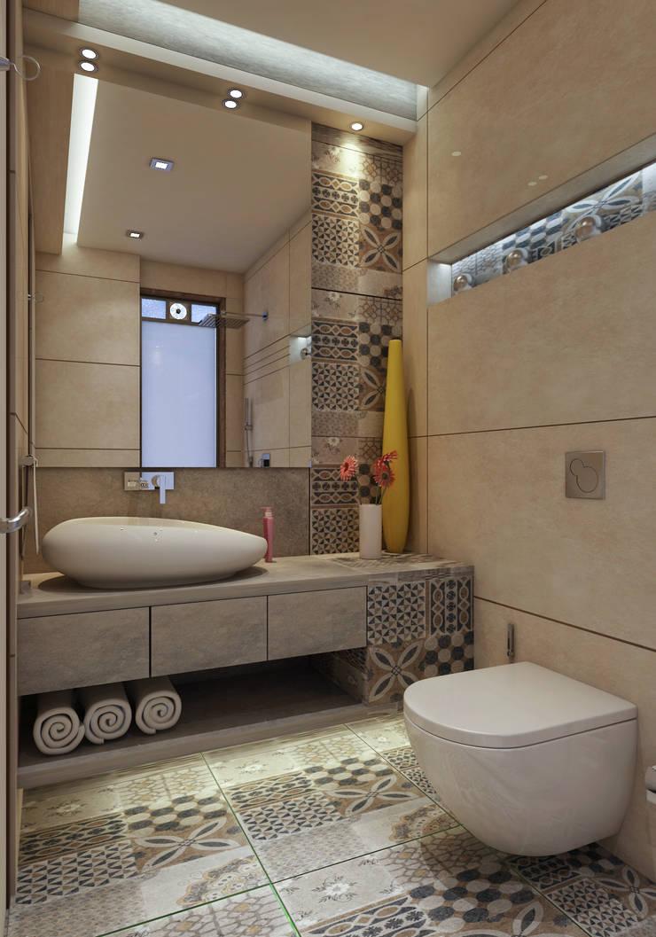 Guest bathroom :  Bathroom by N design studio,Modern