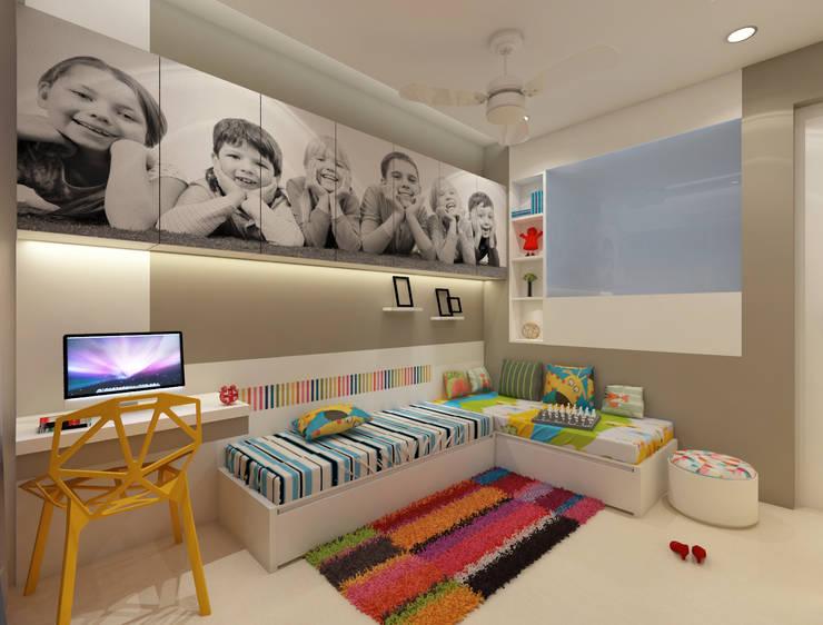 Kids Bedroom :  Teen bedroom by N design studio,Modern