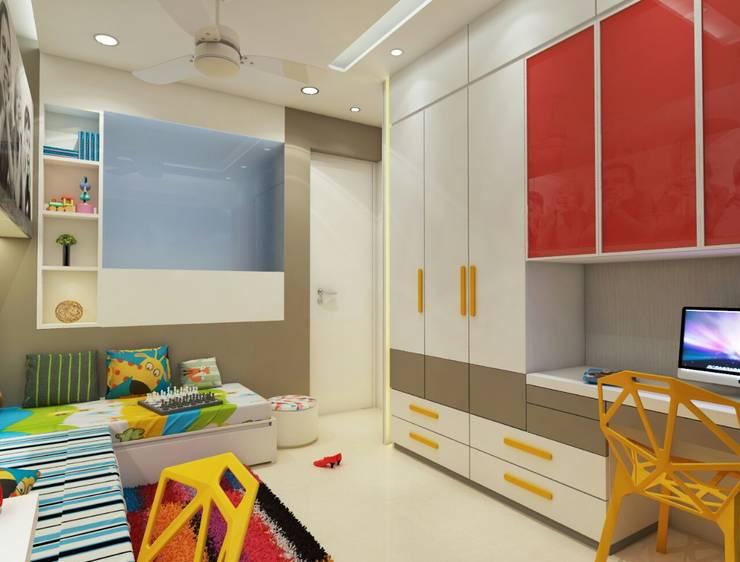 Kids room :  Teen bedroom by N design studio,Modern