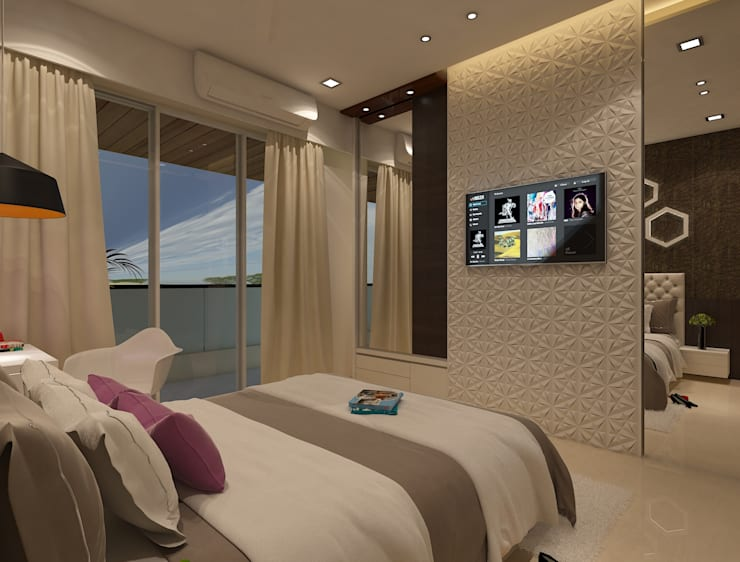 Master bedroom :  Bedroom by N design studio,Modern