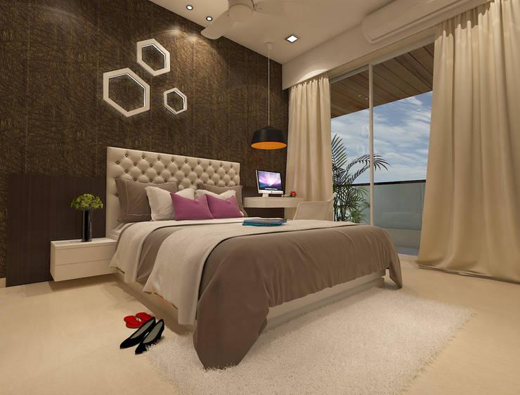 Master bedroom :  Bedroom by N design studio,Minimalist