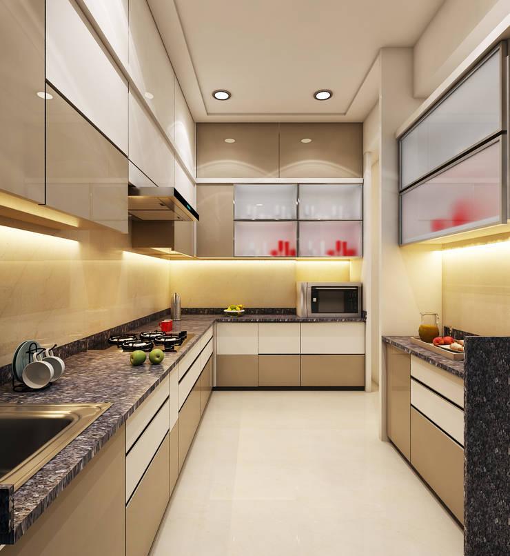 Kitchen :  Kitchen units by N design studio,Modern