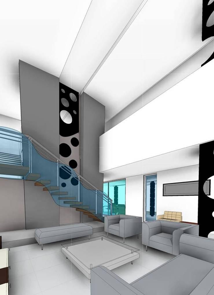 Casa Blanco :  de estilo  por Facere Arquitectura