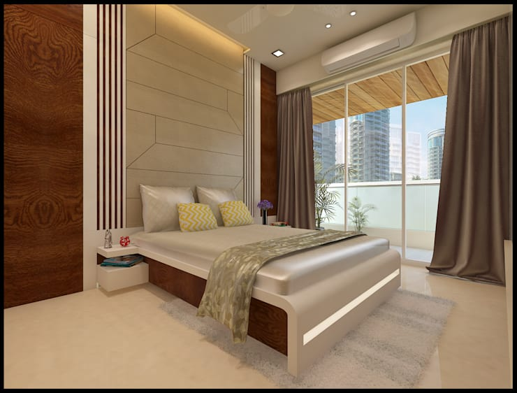 Guest Bedroom :  Bedroom by N design studio,Modern