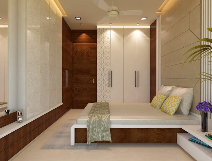 Guest Bedroom :  Bedroom by N design studio,Minimalist