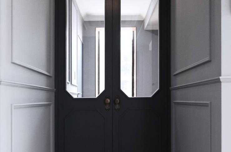 제미재 단독주택레노베이션 (실내 1층): 디자인스튜디오참의  복도 & 현관