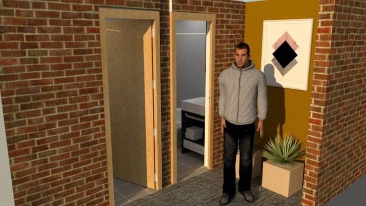 Pasillo: Vestíbulos, pasillos y escaleras de estilo  por Fire Design AR
