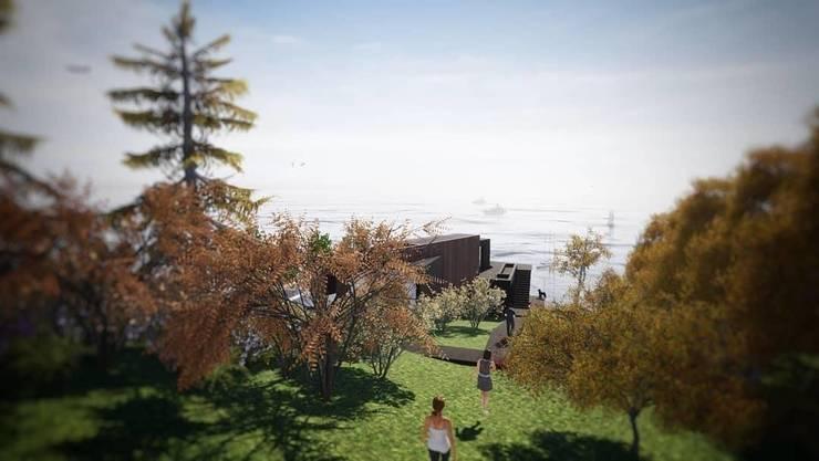 DISEÑO DE CASA EN TUNQUÉN: Casas de madera de estilo  por Dušan Marinković - Arquitectura - Santiago