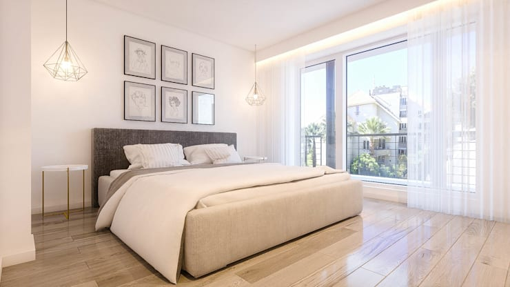 Apartamento Paço de Arcos: Quartos  por DV Arquitecto