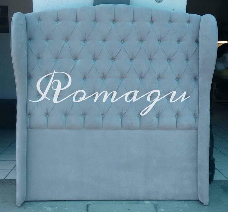 CABECERA MATRIMONIAL MOD. ROMANISH: Recámaras de estilo  por  ROMAGU MUEBLES