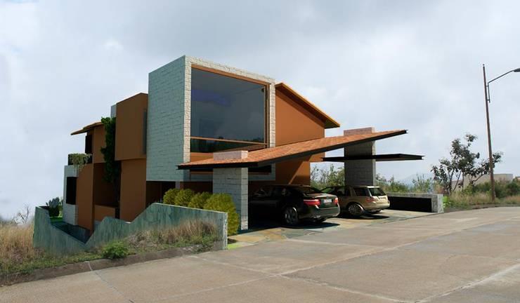 Fachada Principal:  de estilo  por Taller de Arquitectura Bioclimática +3d