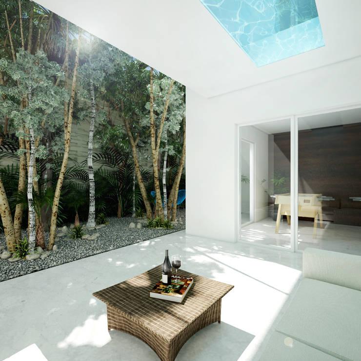 terraza cuarto de juebos:  de estilo  por studio arquitectura   Despacho de arquitectos   Cancún