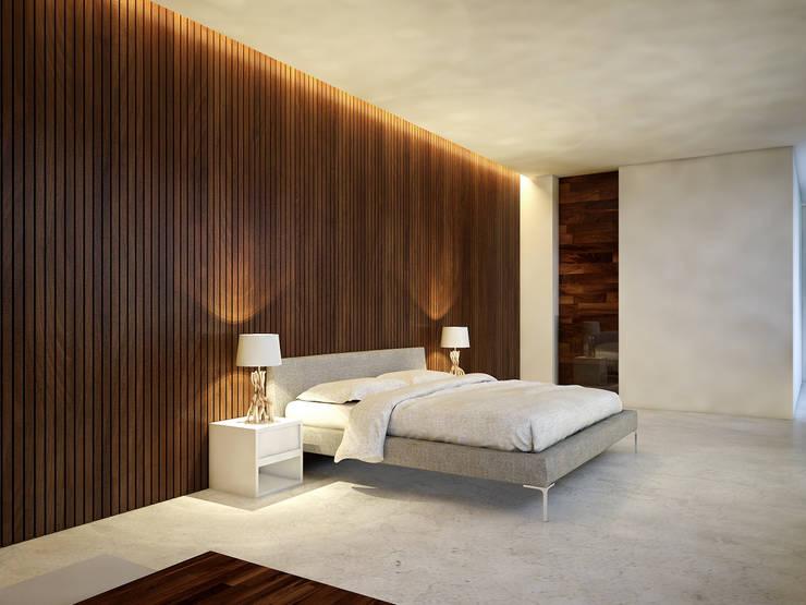 recamara principal:  de estilo  por studio arquitectura   Despacho de arquitectos   Cancún