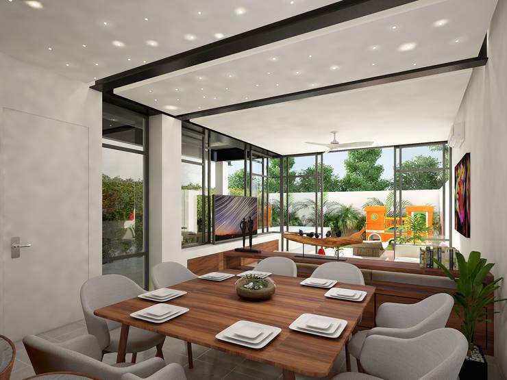 comedor:  de estilo  por studio arquitectura | Despacho de arquitectos | Cancún