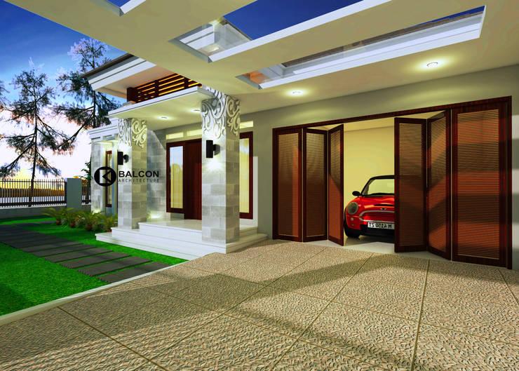 GREY-HOUSE :  Garasi by BALCON ARCHITECTS