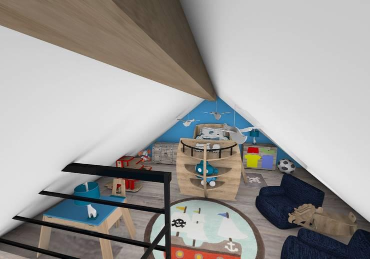 Chambre enfant: Chambre d'enfant de style  par Crhome Design,