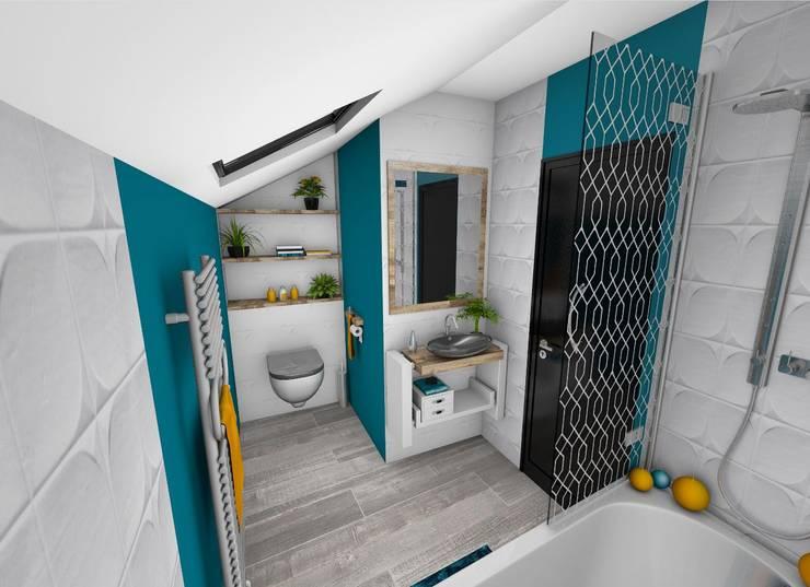 Salle de bain: Salle de bains de style  par Crhome Design