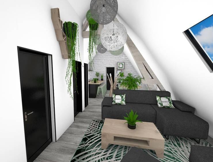 Salon: Salon de style  par Crhome Design