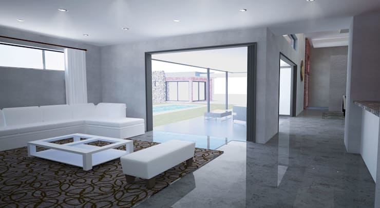 New Living Room:  Living room by A4AC Architects, Modern Ceramic