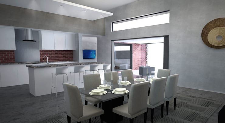 New Dining Room & Kitchen:  Kitchen units by A4AC Architects, Modern Granite