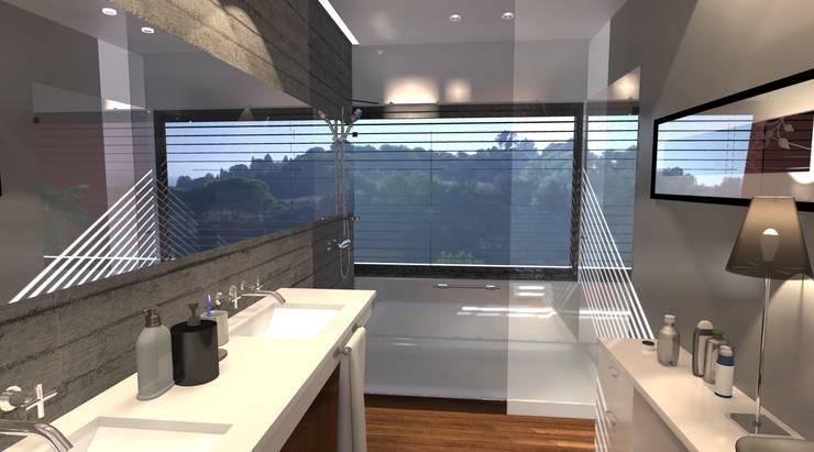Uma casa de banho de sono: Casas de banho  por perez ipar arquitectura  e decoração