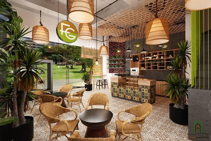 Thiết kế nội thất Coffee Tropical Vinhome Central Park:  Spa by Thiết kế nội thất căn hộ An Phú Decor