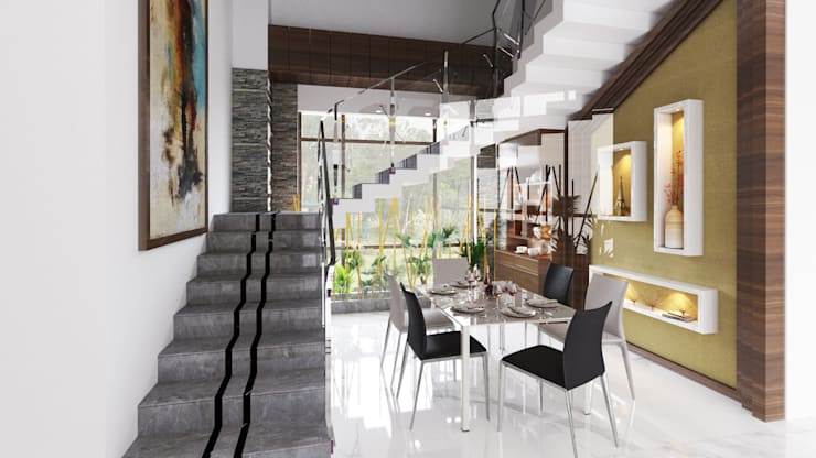 Dining Room:  Dining room by Idea Associates