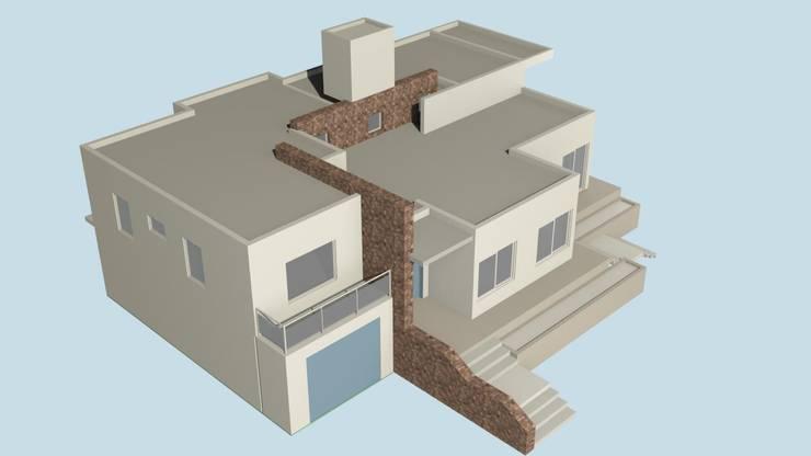 Proceso renders de Arquitecto Manuel Daniel Vilte Minimalista