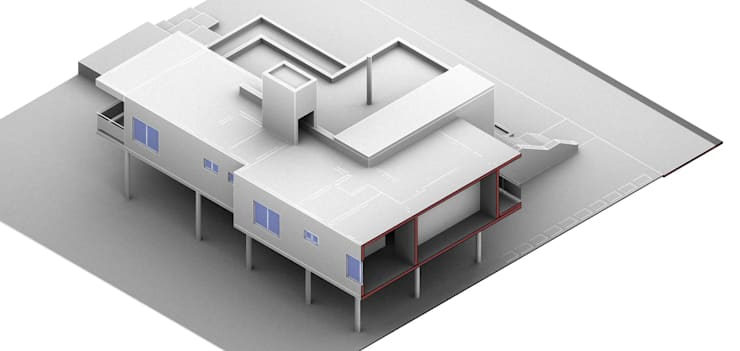 Proceso renders: Casas unifamiliares de estilo  por Arquitecto Manuel Daniel Vilte