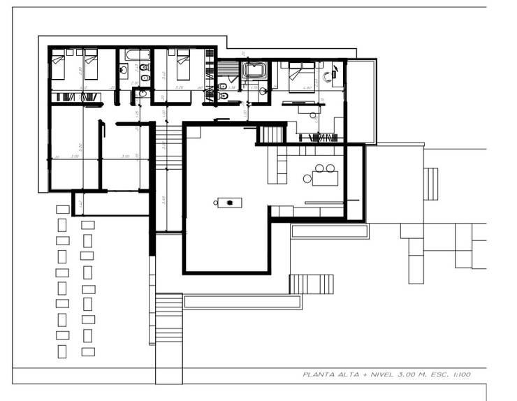 Planta Alta: Casas unifamiliares de estilo  por Arquitecto Manuel Daniel Vilte
