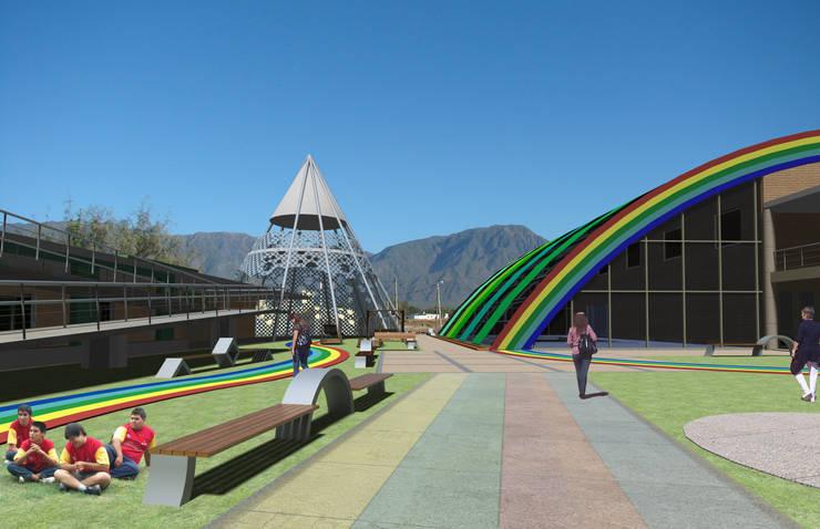 Centro de día para niños especiales: Escuelas de estilo  por Arquitecto Manuel Daniel Vilte,