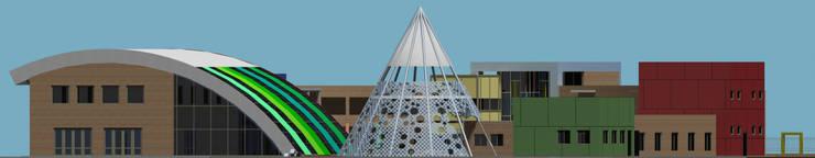 Fachada: Escuelas de estilo  por Arquitecto Manuel Daniel Vilte,