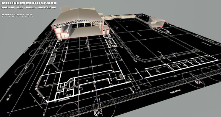 MyM: Bares y Clubs de estilo  por Arquitecto Manuel Daniel Vilte