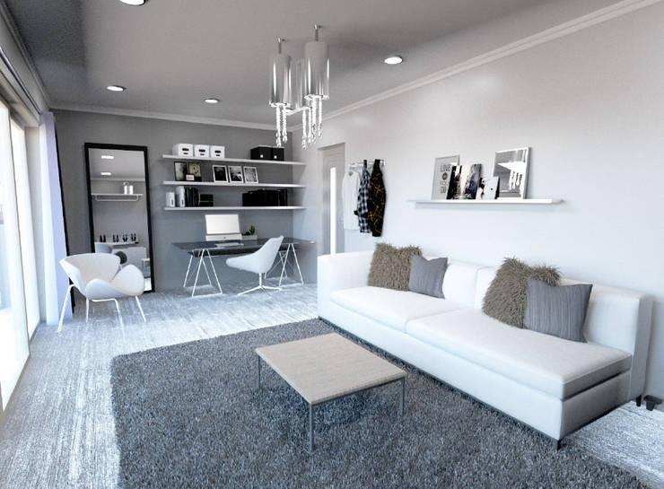Eldoglen Estate Additions:  Study/office by A4AC Architects, Modern Bricks