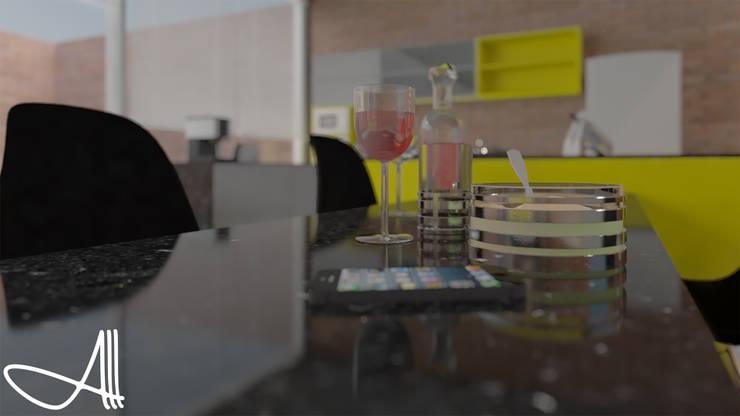 industrial Kitchen by Andrey Arredondo Arquitecto