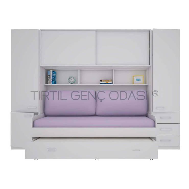 Tırtıl Genç ve Çocuk Odası – Yanları Dolaplı Yatak - Compact Genç Odası :  tarz Çocuk Odası