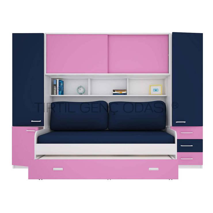 Tırtıl Genç ve Çocuk Odası – Pembe Kız Çocuk Odası - Compact Genç Odası :  tarz Çocuk Odası