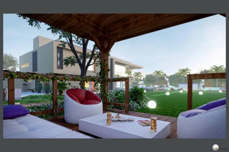 Exterior 3D Still Rendering—Residential Projects:  Patios & Decks by MI Studio LLP