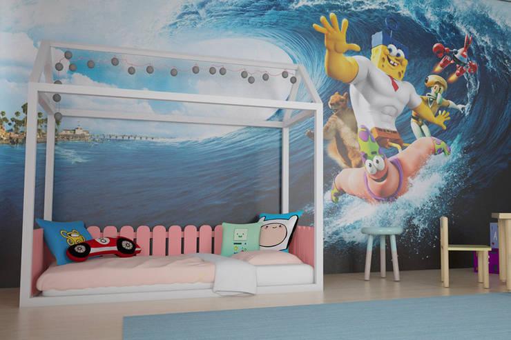 Tırtıl Genç ve Çocuk Odası – Montessori Yatak Modelleri :  tarz Çocuk Odası