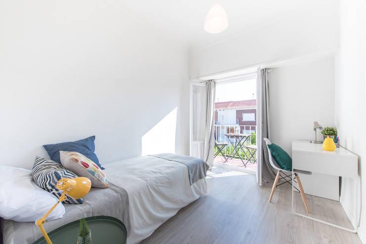 Dormitorio terraza después:  de estilo  de CASA IMAGEN