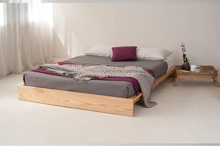 Homelli – Naturity Alçak Masif Karyola:  tarz Yatak Odası