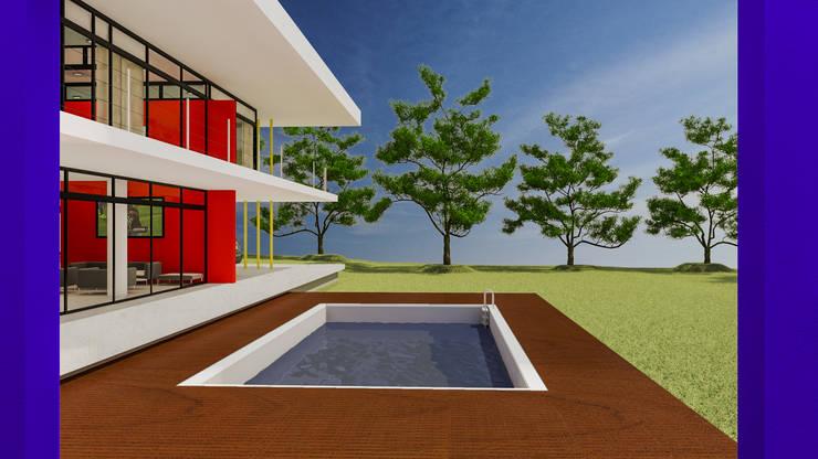 Piscina de vivienda: Piletas de jardín de estilo  por DUSINSKY S.A.,Moderno