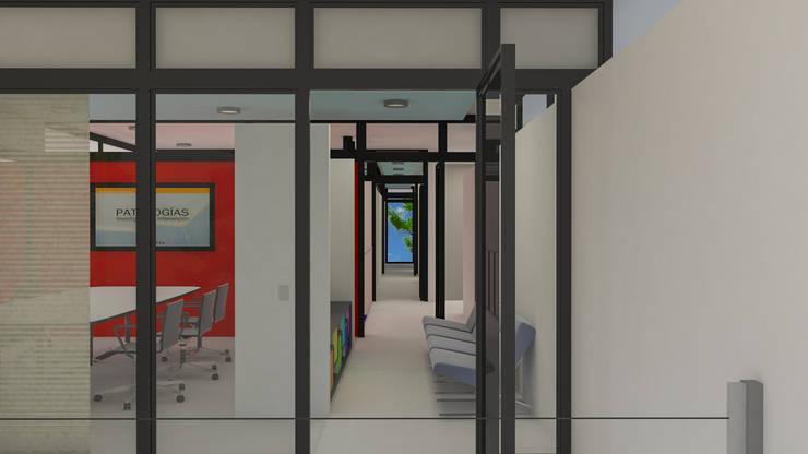 Pasillo vinculante: Pasillos y recibidores de estilo  por DUSINSKY S.A.,Moderno