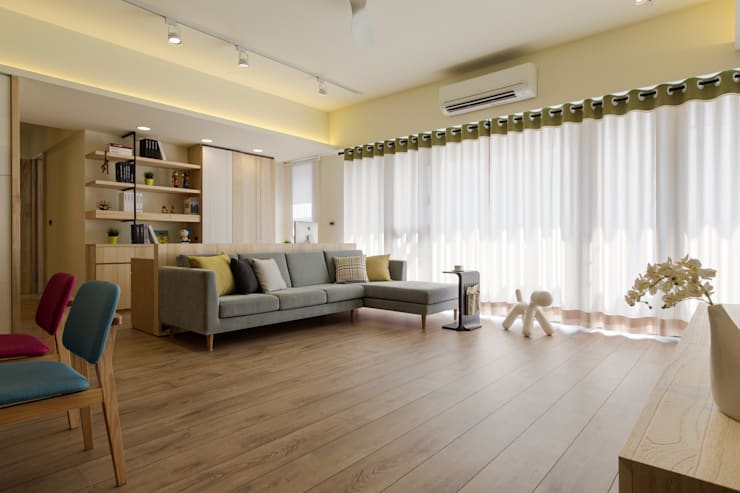 Salas / recibidores de estilo  por 詩賦室內設計