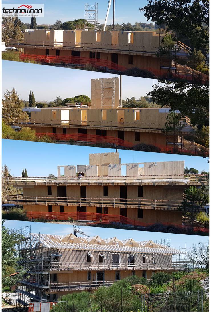 Habitats collectifs de style  par Technowood srl, Classique Bois Effet bois